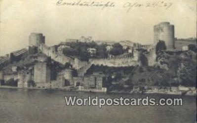 TR00064 - Robert College, Fortress of Mohammed II 1452 Constantinople, Turkey Postcard Post Card, Kart Postal, Carte Postale, Postkarte, Country Old Vintage Antique