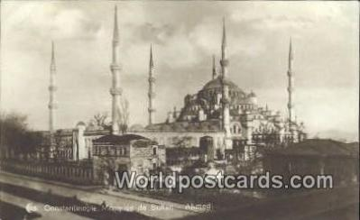 TR00065 - Mosquee de Sultan - Ahmed Constantinople, Turkey Postcard Post Card, Kart Postal, Carte Postale, Postkarte, Country Old Vintage Antique