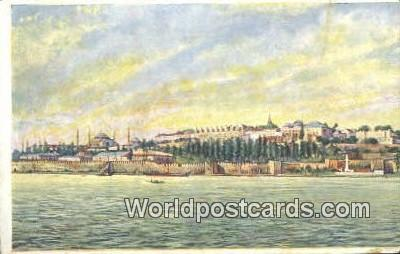 TR00072 - La Pointe du Serail Constantinople, Turkey Postcard Post Card, Kart Postal, Carte Postale, Postkarte, Country Old Vintage Antique