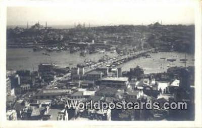 TR00073 - New Bridge Istanbul, Turkey Postcard Post Card, Kart Postal, Carte Postale,   Country Old Vintage Antique