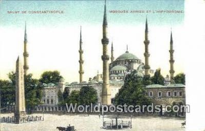 TR00081 - Mosquee Ahmed et L'Hippodrome Constantinople, Turkey Postcard Post Card, Kart Postal, Carte Postale, Postkarte, Country Old Vintage Antique