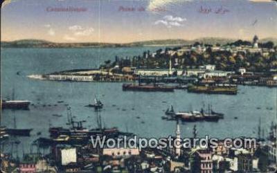 TR00084 - Pointe du Serail Constantinople, Turkey Postcard Post Card, Kart Postal, Carte Postale, Postkarte, Country Old Vintage Antique