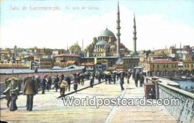 TR00093 - Le piont de Galata Constantinople, Turkey Postcard Post Card, Kart Postal, Carte Postale, Postkarte, Country Old Vintage Antique