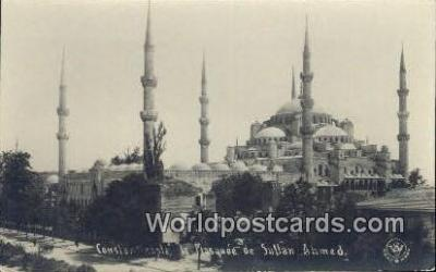 TR00102 - Real Photo - la Mosquee de Sultan Ahmed Constantinople, Turkey Postcard Post Card, Kart Postal, Carte Postale, Postkarte, Country Old Vintage Antique