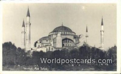 TR00112 - Aya Sofya Istanbul, Turkey Postcard Post Card, Kart Postal, Carte Postale,   Country Old Vintage Antique