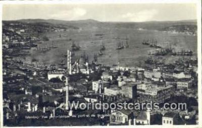 TR00113 - Vue du Port et du Bosphore Istanbul, Turkey Postcard Post Card, Kart Postal, Carte Postale,   Country Old Vintage Antique