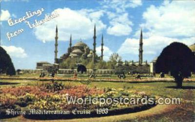 TR00116 - Shrine Mediterainian Cruise 1963 Istanbul, Turkey Postcard Post Card, Kart Postal, Carte Postale,   Country Old Vintage Antique