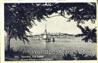 TR00123 - Kiz Kulesi Istanbul, Turkey Postcard Post Card, Kart Postal, Carte Postale, Postkarte Country Old Vintage Antique