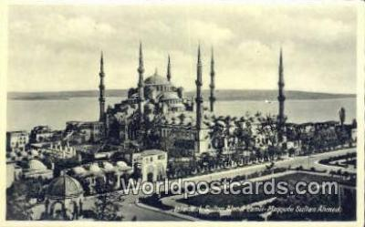 TR00124 - Sultan Ahmer Camii, Mosquee Sultan Ahmed Istanbul, Turkey Postcard Post Card, Kart Postal, Carte Postale, Postkarte Country Old Vintage Antique