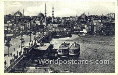 TR00131 - Galata Koprusu Istanbul, Turkey Postcard Post Card, Kart Postal, Carte Postale, Postkarte Country Old Vintage Antique