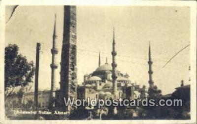 TR00132 - Sultan Ahmet Istanbul, Turkey Postcard Post Card, Kart Postal, Carte Postale, Postkarte Country Old Vintage Antique