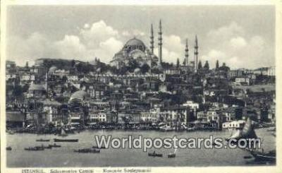 TR00135 - Suleymaniye Camisi Istanbul, Turkey Postcard Post Card, Kart Postal, Carte Postale, Postkarte Country Old Vintage Antique