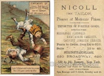 tc000293 - Nicoll the Tailor, Broadway, NYC USA  --  approx size inches =  3 x 4.5