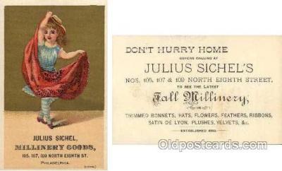 tc000299 - Julius Sichel, Phila, PA USA  --  approx size inches =  2.75 x 4.5