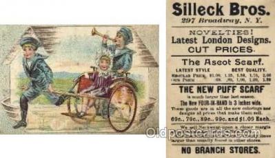 tc000301 - Silleck Bros, NYC USA  --  approx size inches =  2.75 x 4