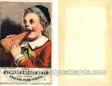 tc000486 - Atmore's Mince Meat and Genuine English Plum Pudding - Approx Size Inches = 2.5 x 4