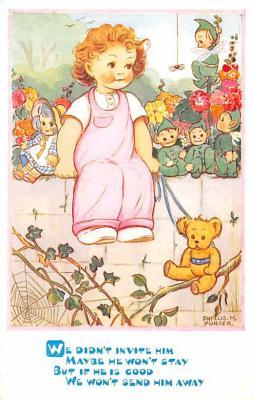 ted004083 - Teddy Bear Post Card