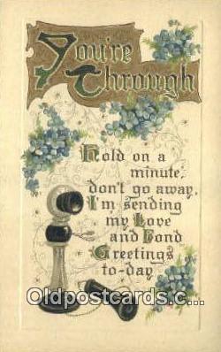 tep001104 - Telephone Postcard Post Card Old Vintage Antique