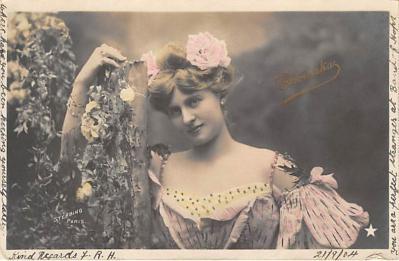 the203214 - Theater Actor / Actress Old Vintage Antique Postcard Post Card, Postales, Postkaarten, Kartpostal, Cartes, Postkarte, Ansichtskarte