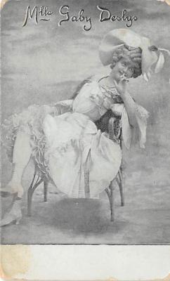 the204003 - Theater Actor / Actress Old Vintage Antique Postcard Post Card, Postales, Postkaarten, Kartpostal, Cartes, Postkarte, Ansichtskarte