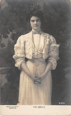 the204120 - Theater Actor / Actress Old Vintage Antique Postcard Post Card, Postales, Postkaarten, Kartpostal, Cartes, Postkarte, Ansichtskarte