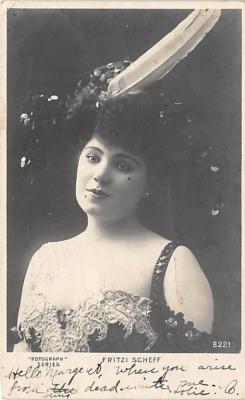 the219079 - Theater Actor / Actress Old Vintage Antique Postcard Post Card, Postales, Postkaarten, Kartpostal, Cartes, Postkarte, Ansichtskarte