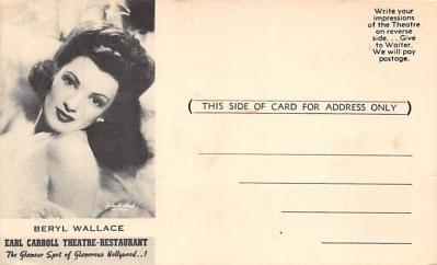 the223154 - Theater Actor / Actress Old Vintage Antique Postcard Post Card, Postales, Postkaarten, Kartpostal, Cartes, Postkarte, Ansichtskarte