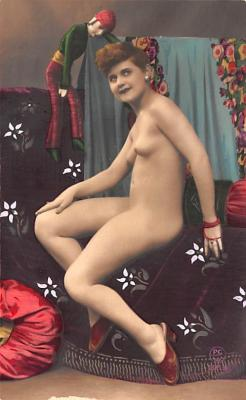tin000017 - French Tinted Nude Old Vintage Antique Post Card