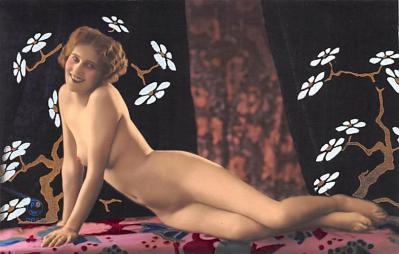 tin000033 - French Tinted Nude Old Vintage Antique Post Card