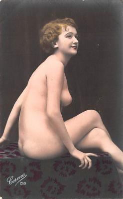 tin000071 - French Tinted Nude Old Vintage Antique Post Card