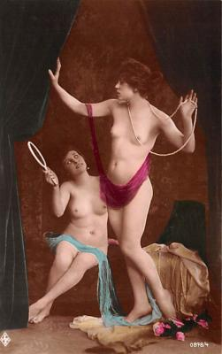 tin000075 - French Tinted Nude Old Vintage Antique Post Card