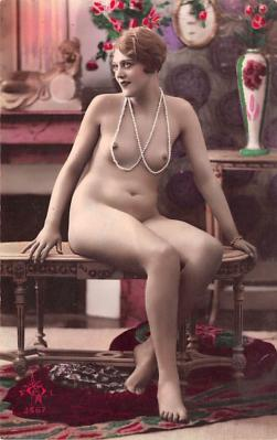 tin000077 - French Tinted Nude Old Vintage Antique Post Card