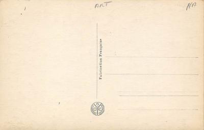 top000021 - Art Post Card,Old Vintage Artist Postcard  back