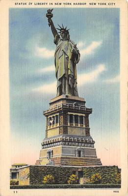 top017529 - Statue of Liberty Post Card