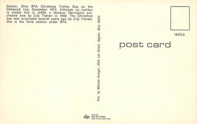 top018585 - Buses/Bus Stations Post Card  back