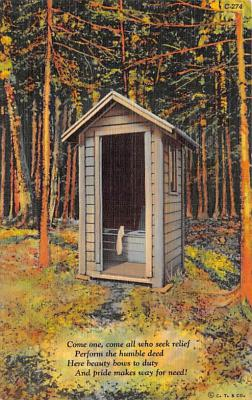 top022391 - Outhouses Post Card Out House Postcard