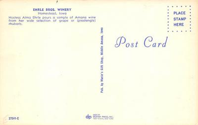 top023687 - Brewery / Distillery / Winery Post Card  back