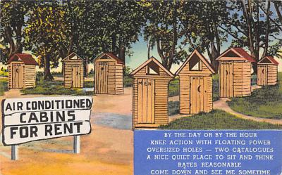 top025153 - Outhouses Post Card