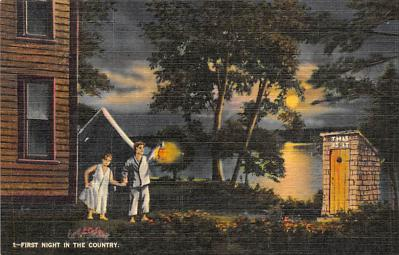 top025199 - Out houses Post Card