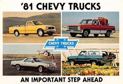 top025825 - Trucks / Buses /  Vans Post Card