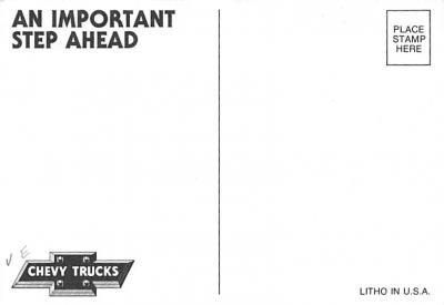 top025825 - Trucks / Buses /  Vans Post Card  back