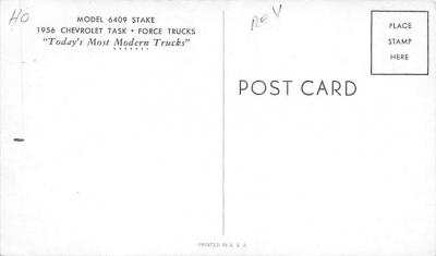 top025837 - Trucks / Buses /  Vans Post Card  back
