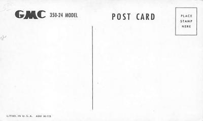 top025847 - Trucks / Buses /  Vans Post Card  back