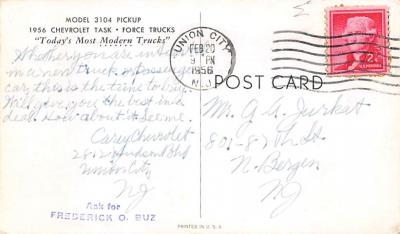 top025849 - Trucks / Buses /  Vans Post Card  back