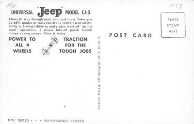 top025869 - Trucks / Buses /  Vans Post Card  back
