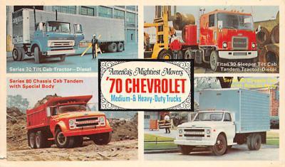 top025877 - Trucks / Buses /  Vans Post Card