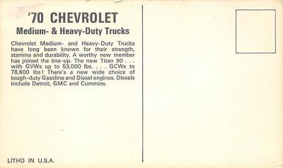 top025877 - Trucks / Buses /  Vans Post Card  back
