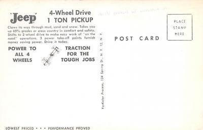 top025879 - Trucks / Buses /  Vans Post Card  back