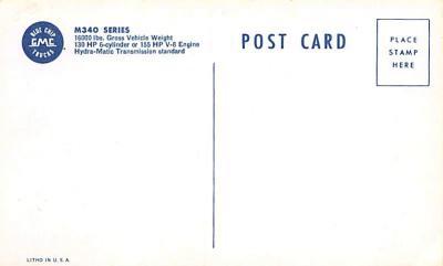 top025881 - Trucks / Buses /  Vans Post Card  back