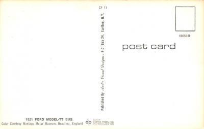 top025887 - Trucks / Buses /  Vans Post Card  back